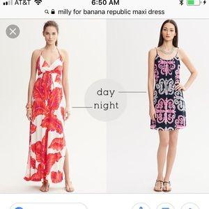 Milly for Banana Republic maxi dress size medium